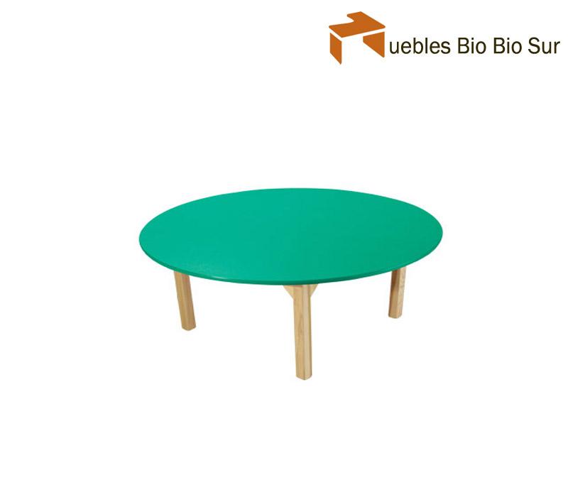 Mesa Parvulo madera redonda